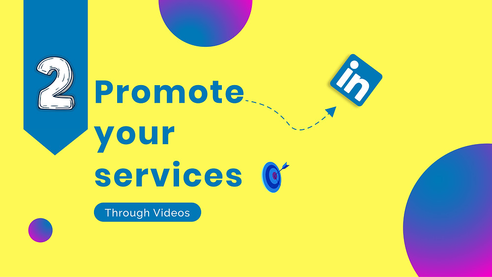 Yellow card saying Promote your services