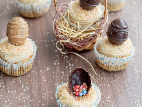 Easter Nests Cupcakes with Carrot and Coconut