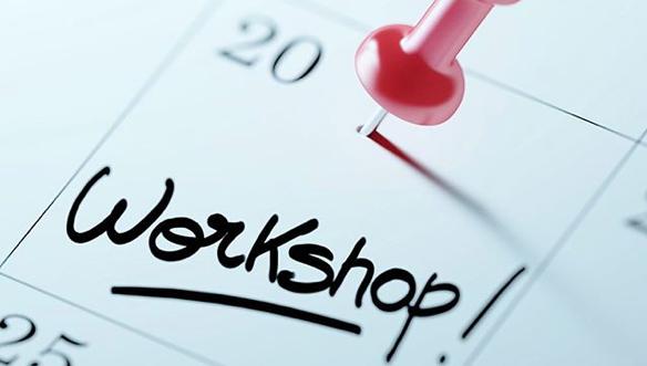 Kalenderblatt mit einem Eintrag für einen Workshop.