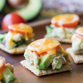 Pacific Crown Tuna Melt Bites with Avocado