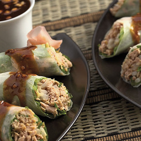 Pacific Crown Tuna Rolls with Fresh Ginger Dipping Sauce