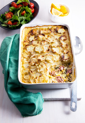 Pacific Crown Tuna & Vegetable Gratin.