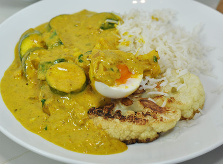 How to make Vegetarian Curried Vegetables and Cauliflower Steak at home.