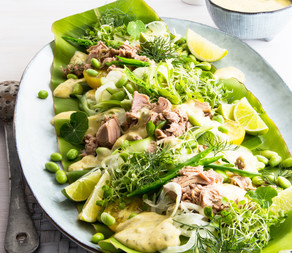 Pacific Crown Tuna, fennel and cucumber Salad with lemon mayonnaise