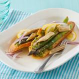 Pacific Crown Sardine Crostini with Asparagus and Pesto