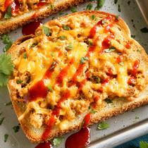 Pacific Crown Cheesy Sriracha Tuna Toasts