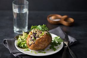 Pacific Crown Mackerel - Stuffed Baked Potatoes
