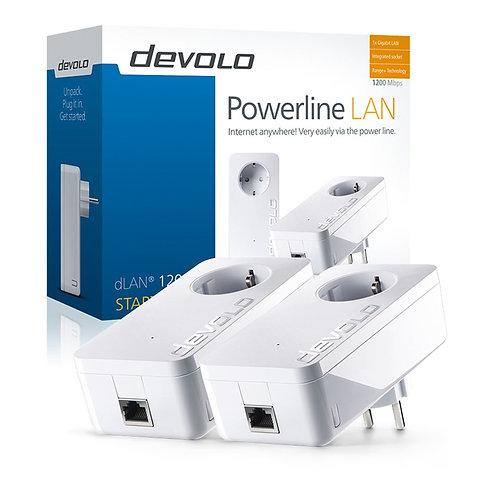 Devolo dLan powerline 1200+ KIT 2 τεμαχίων, ταχύτητας 1.200 MBps, με 1 φις Ether