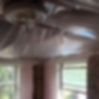 Ceiling repair and replacement - before
