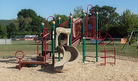 Recently-built Thurston Park playground in Elmira Heights, provided through grants and economic development funding.