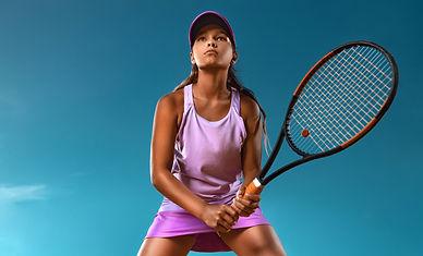 Tennis player. Beautiful girl teenager a