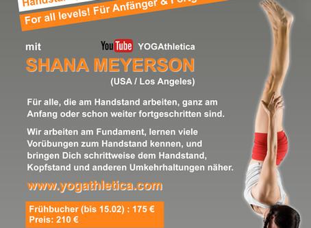 Handstand, Kopfstand und Inversions – Workshop <br>mit Shana Meyerson (6.-7. April)