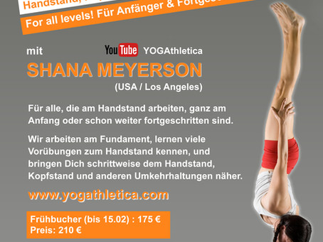 Handstand, Kopfstand und Inversions – Workshop <br>mit Shana Meyerson (6.-7. April)