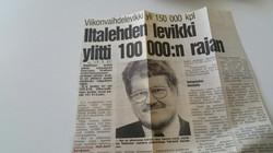 Sanomalehdistön ennätyskasvu