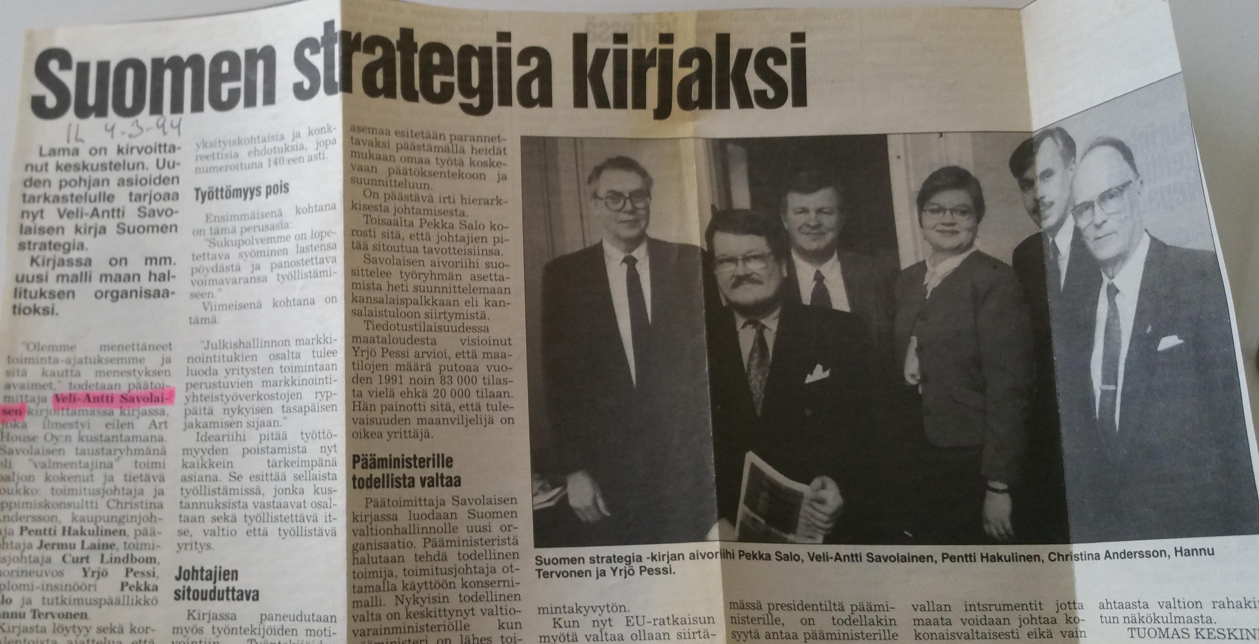 Suomen Strategia 1993 Arthouse
