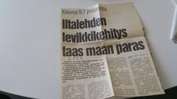 Iltalehden levikkiennätykset 1991