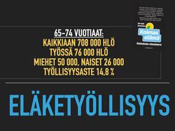 2020 eläkeikäisten työllisyys suomessa