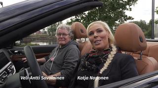 Katja Noponen jaVeli.Antti Savolainen on the road