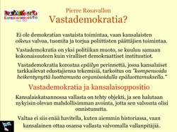 Pierre Rosavallon antaa esimerkin