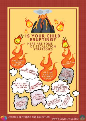 Is your child erupting? Try these de-escalating strategies.