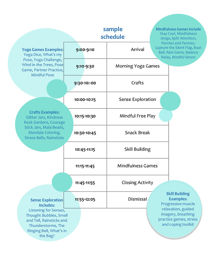 mindfulness camp schedule