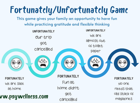 Family Game for Practicing Gratitude: Fortunately/Unfortunately