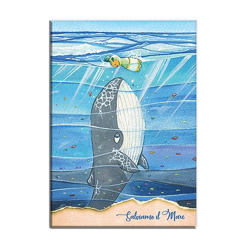 Quaderno - Salviamo il mare - Balena