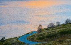 Moncenisio lake all'alba