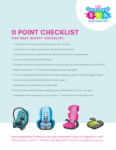 Read our checklist for car seat safety