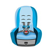 Car Seat With A 5 Point Harness