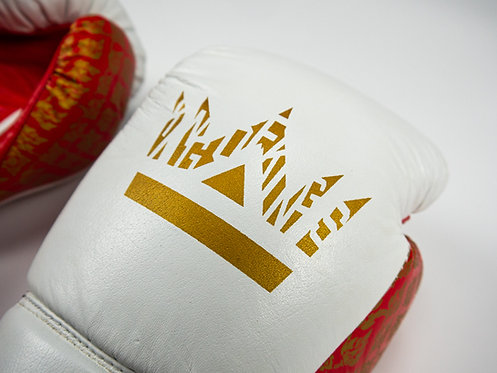 Red King of Kings Lace Up Boxing Gloves