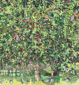 Pigeons in the apple tree#2