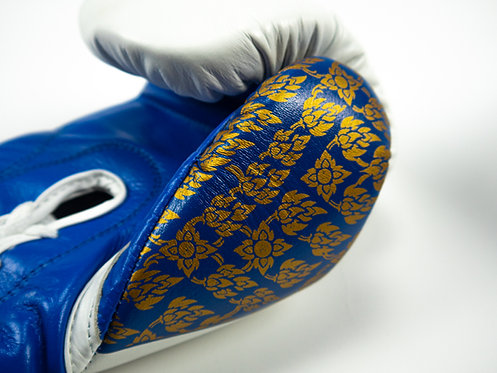 Blue King of Kings Lace-up Boxing Gloves
