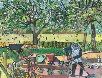 Gardener preparing the soil #2