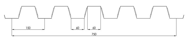 Composite Floor Decking AD55 profile Angastiniotes