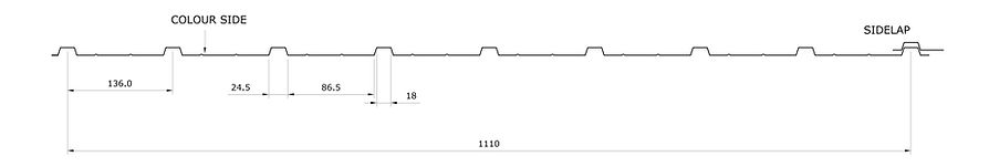 Trapezoidal sheet A10 profile Angastiniotes
