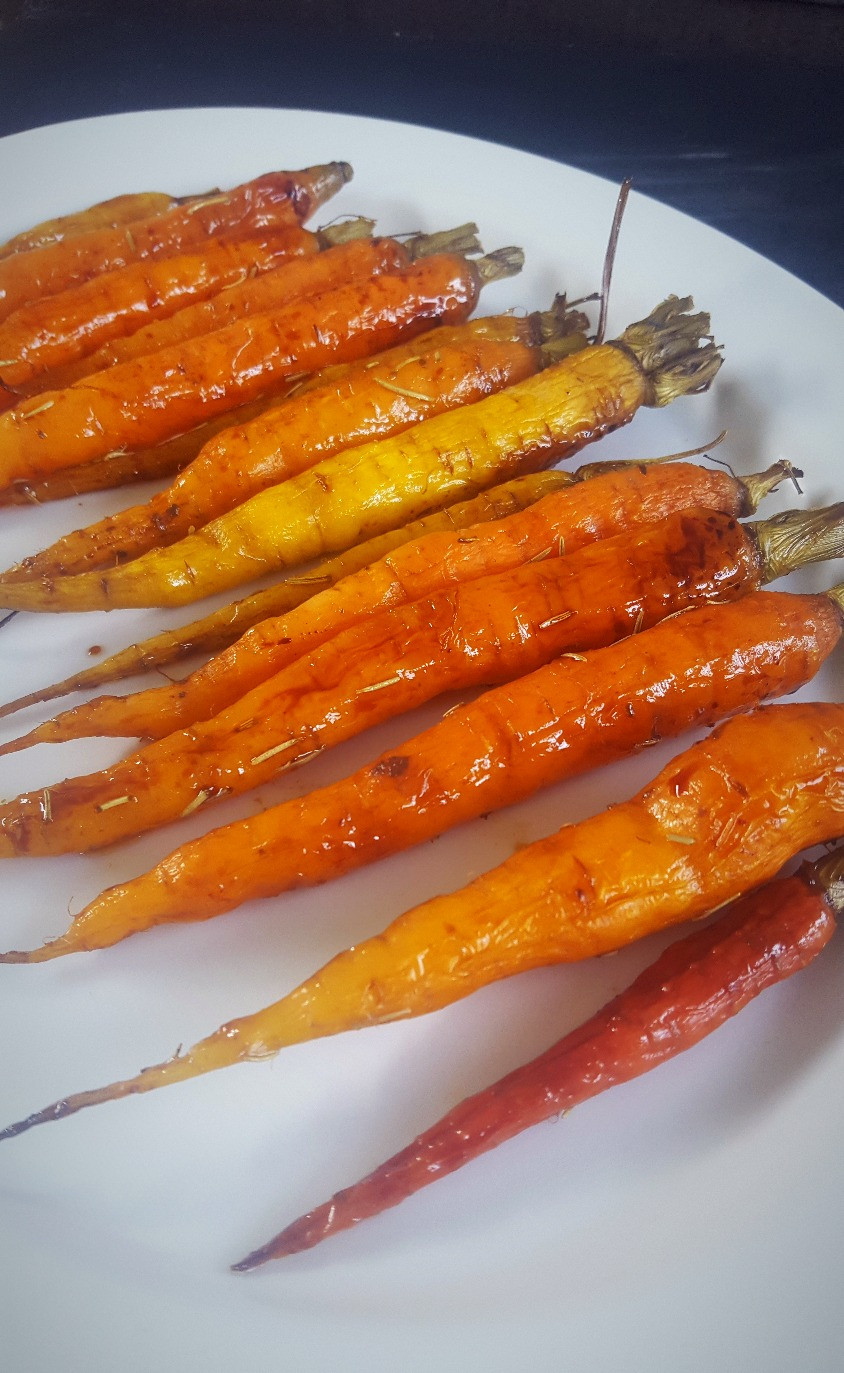 Maple Balsamic Carrots