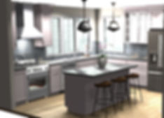 3 dimentional rendering of custom kitchen design