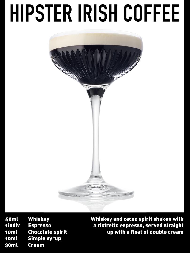 SS website Cocktail spec - Hipster irish
