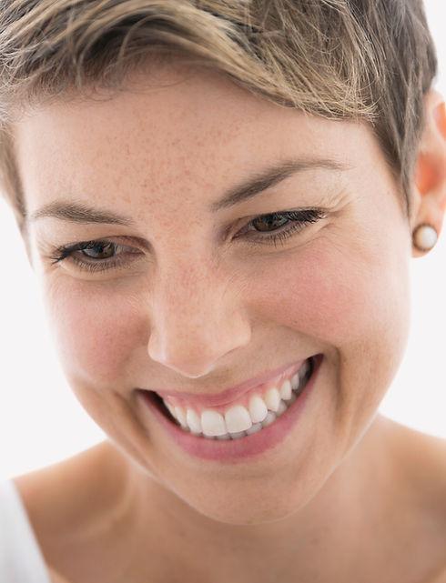 Smiling woman - anti-ageing treatments