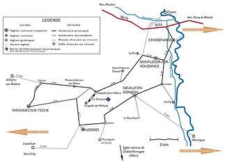 Carte des Chemins du Roman