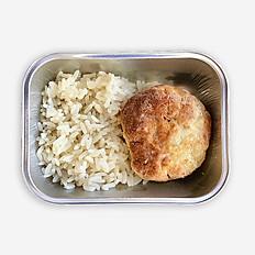 Биточек куриный с рисом