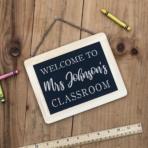 Hanging Chalkboard Classroom Sign