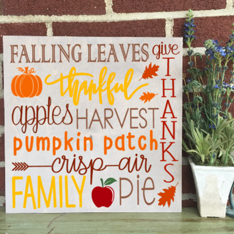 Fall Quote 12x12