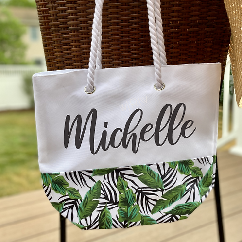 Name Bamboo Leaf DIY Canvas Bag