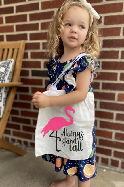 Flamingo Stand Tall DIY Canvas Bag
