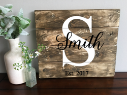 Traditional Last Name 14x16