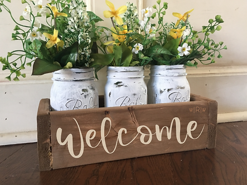 Welcome Flower Box