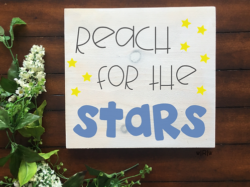 Reach for the Stars Kid's Sign 10x10