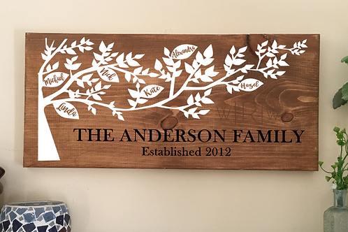 Vertical Family Tree 10x20 FINISHED PRODUCT